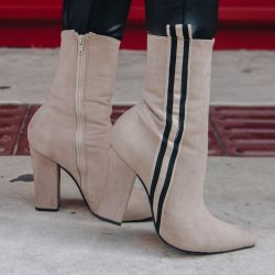 Ankle Boot Areia Striped Jaquelyne